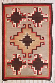 Click here to see more detailed photos of the very unusual Old Style Crustal Navajo Weaving.