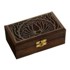 Indian Jewelry Box Wooden Carving Handcrafted Gifts