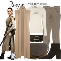 Disney Bound Rey - Star Wars Tshirt - Trending and Latest Star Wars Shirts - Disney Cosplay, Disney Costumes, Robes Disney, Disney Dresses, Cosplay Casual, T-shirt Star Wars, Disney Themed Outfits, Disney Bound Outfits Casual, Movie Outfits