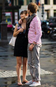 Vanessa Jackman: Paris Street Style....Red and White Stripes
