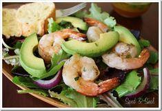 Honey Lime Grilled Shrimp Salad