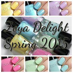 Zoya Delight Spring 2015 swatches via @alllacqueredup