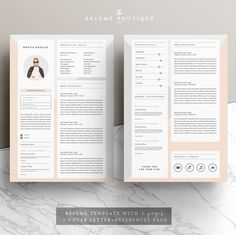 Resume Template 4page   Modern Muse by The.Resume.Boutique on @creativemarket