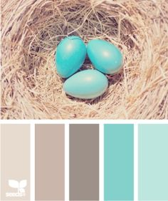 Robin Egg colour pallet, aqua, neutrals by StarMeKitten. Lovin' the aqua second from the right.