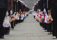 Mass game North Korea 북한 by Eric Lafforgue, via Flickr Mass Games, Eric Lafforgue, North Korea, Dance, Board, Dancing, Planks