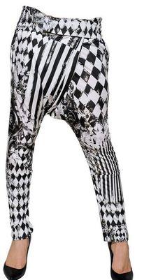 Balmain Printed Viscose Jersey Harem Trousers - Lyst