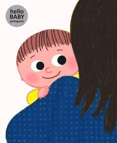 hello baby  누가 더 행복할까요? goolygooly illustration