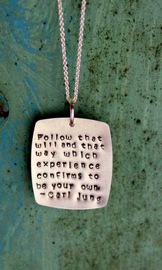 I'm such a nerd, if someone bought me a necklace with a famous psychologist's quote, I'd probably (cry first, because I'm an emotional being…) wear it all the time.