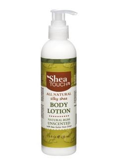 Shea Touch - All Natural Silky Shea Body Lotion (8 Fl Oz) - Unscented by Shea Touch. $10.00. All natural body lotion. Made with Chadian shea butter, aloe vera and apricot kernel oil. Long lasting moisturizer. Softens and protects skin. Unscented and light feel on skin. This silky, soft and fast absorbing luxurious lotion is made with natural pure mechanically extracted premium shea butter from Chad in central Africa and pure whole leaf aloe vera juice. All the other ingredient...