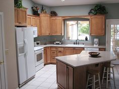 L Shaped Kitchen Design Ideas For Small And Large Kitchen With Island  Counter, Cabinets And