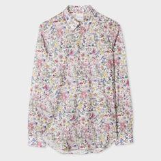 Paul Smith Men's Slim-Fit 'Botanical Floral' Print Cotton Shirt