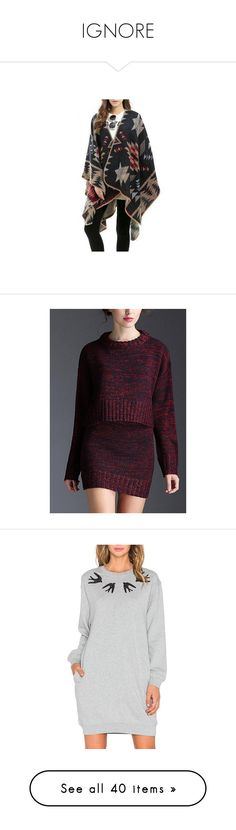 """""""IGNORE"""" by emilypondng ❤ liked on Polyvore featuring burgundy, jumpsuits & rompers, dresses, grey, long sleeve dresses, long sleeve cotton dress, pattern dress, longsleeve dress, print dresses and cotton print dress"""