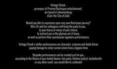 Vintage Cheek Burlesque Bachelorette Parties in Johannesburg, Pretoria and surrounds. Burlesque Bachelorette, Bridal Showers, Kitchen Tea(se) and Hen parties! Burlesque Bachelorette Party, Bachelorette Parties, Pretoria, Bridal Showers, Entertaining, Tea, Kitchen, Vintage, Cooking