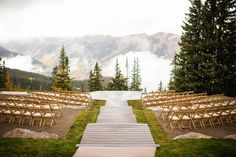 Wedding ceremony in the mountains.