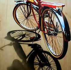 Artwork by painter and artist Brian Tull. Hyper Realistic Paintings, Realistic Drawings, Colorful Drawings, Hyperrealism Paintings, Hyperrealistic Art, Reflection Art, Art Optical, Identity Art, Bicycle Art