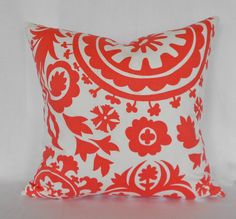 Coral Pillow Cover Premier Prints Any Size by MyPillowStudio