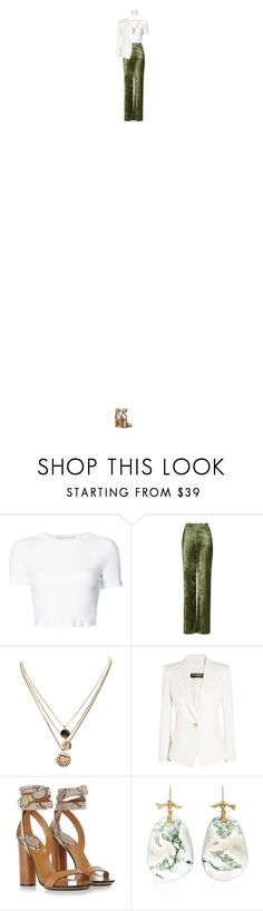 """as we drift into the sun"" by homeandhunnie ❤ liked on Polyvore featuring Rosetta Getty, Love, LowLuv, Balmain, Gucci and Annette Ferdinandsen"