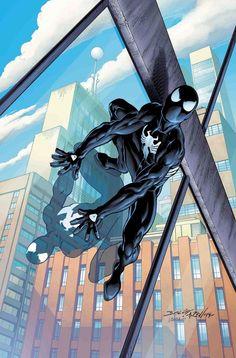 Art Vault - Sensational Spider-Man: Self Improvement by Mark Bagley - Black Spiderman, Amazing Spiderman, Spiderman Art, Marvel Comic Universe, Comics Universe, Marvel Comics Art, Marvel Heroes, Comic Books Art, Comic Art