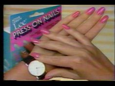 my grandma would try to occupy me with Lee Press On Nails and how annoyed I would get when they would fall off.