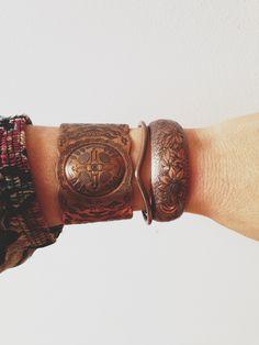 vintage copper cuffs
