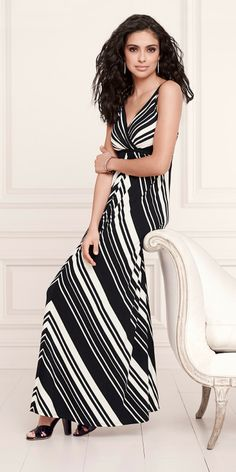 Enchanting Introductions: Soma Surplice Tank Maxi Dress in Sailing Stripe Print #LoveSoma #TopPinned
