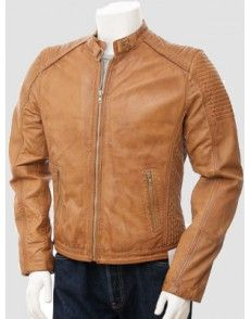 Brown Bikers Jacket available on www.styloleather.com