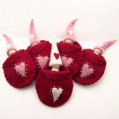 Valentine's Day Gnome Waldorf Wood and Wool by SesameSeedDesigns, $10.00