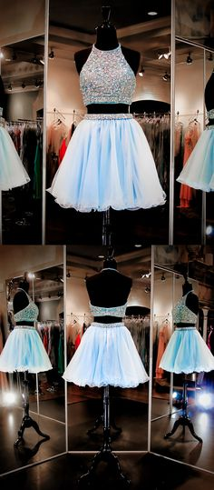 homecoming dresses,two piece homecoming dresses,halter homecoming dresses,beading homecoming dresses,backless homecoming dresses,fashion homecoming dresses,2017 homecoming dresses,short homecoming dresses