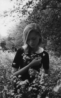 In a field of flowers