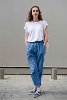 White shirt, denims, vans | casual style | fashion