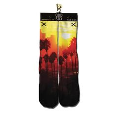 Sunset Blvd Socks from Get On Fleek. Shop more products from Get On Fleek on Wanelo. Crazy Socks, Cool Socks, Buzzfeed Style, My Wallet, Well Dressed Men, Graphic Prints, Sunset, Cool Stuff, Knitting