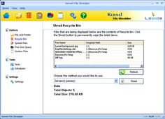 View Screenshots of Kernel File Shredder Software - Use File Shredder tool and shred files automatically in a most convenient manner.
