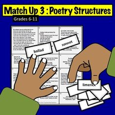 "The ""board"" gives 12 poetry examples. The pieces list structures, such as ""ballad"" or ""sonnet. Readers Workshop, Writer Workshop, Poetry Examples, Classroom Board, Common Core Ela, Education Degree, Teaching Tips, Student Work, Lesson Plans"