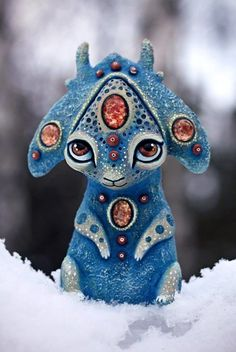 Maryana Kopylova Cute Mythical Creatures Brings Fantasy Closer Into Our Own Lives And We Love It Cute Creatures, Magical Creatures, Fantasy Creatures, Clay Monsters, Arte Popular, Paper Clay, Polymer Clay Art, Animal Sculptures, Art Dolls