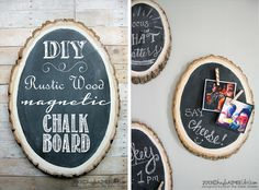 Rustic Wood Magnetic Chalk Boards