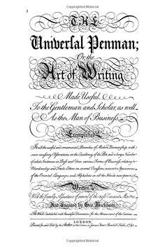 The Universal Penman: Amazon.de: George Bickham: Fremdsprachige Bücher