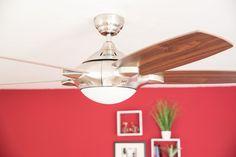 MERCURY Chrom, der Qualitäts-Deckenventilator für schräge Wände. Montage an Schrägen bis 40° möglich (mit Fernbedienung 20°). Die Fernbedienung ist inklusive.  https://www.creoven.de/a-504/
