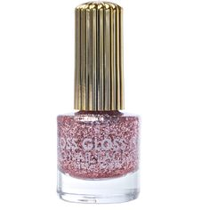 Floss Gloss The Pink Nugget Glitter Nail Polish (640 RUB) ❤ liked on Polyvore featuring beauty products, nail care, nail polish, makeup, nails, beauty, cosmetics and shiny nail polish