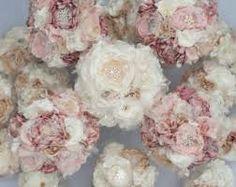 Fabric Flower Brooch Bouquet Custom Wedding Bouquet by Cultivar Broschen Bouquets, Wedding Brooch Bouquets, Silk Flower Bouquets, Silk Flower Arrangements, Flower Bouquet Wedding, Silk Flowers, Fabric Flowers, Ribbon Flower, Lace Fabric