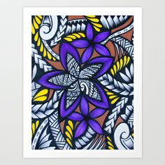 """my manamea Art Print by Lonica Photography & Poly Designs - $22.88""  Love Lonica's work - I have some on my walls and would love purple Fijian style wedding stationery"