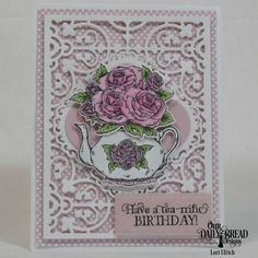 Our Daily Bread Designs Stamp Set: Tea Time, Our Daily Bread Designs Paper Collection:Pastel, Our Daily Bread Designs Custom Dies: Pierced Rectangles, Majestic Medallions, Flourishy Frames, Teapot & Roses, Rectangles