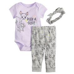 a96e94912 Disney's Bambi Baby Girl Bodysuit, Leggings & Headband Set by Jumping  Beans® Bambi