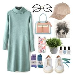 """""""Untitled #219"""" by genesisdallas ❤ liked on Polyvore featuring Common Projects, River Island, Retrò, Ethan Allen, Deborah Lippmann, Casetify and Manic Panic"""