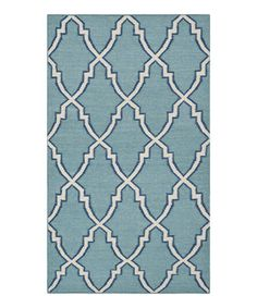 Loving this Light Blue & Ivory Jarvis Handwoven Wool Rug on #zulily! #zulilyfinds