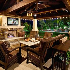 Outdoor Design Ideas top outdoor kitchen design ideas house decor outdoor grill design ideas Mediterranean Home Built In Tv Over Fireplace Design Ideas Pictures Remodel And Decor