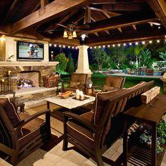 Outdoor Design Ideas garden decor ideas pictures outdoor design ideas Mediterranean Home Built In Tv Over Fireplace Design Ideas Pictures Remodel And Decor