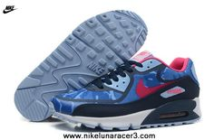 Blue Red Black Womens Shoes Nike Air Max 90 2013 Differentiation 2013 Free Shoes