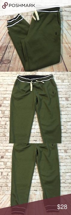 Polo Ralph Lauren 3XL army green jogger sweatpants Great condition! All my items are pictured accordingly. Every details are on the picture. If not pictured the dry clean tag, item doesn't need dry clean. Measurements are also in the photos and the details of the fabric. Please zoom in. Please check accordingly. Bundle & save!! Always message me if you need more discount on your items. I try to work as best as I can. Thank you! Polo by Ralph Lauren Pants Sweatpants & Joggers