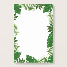 Tropical Leaves Frame Post-it Notes Custom office supplies #business #logo #branding