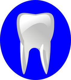 Tooth With Blue Outline